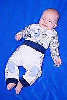 Zironka Костюм (полукомбинезон, штанишки) белый для мальчика Z1-64-9008-1