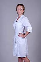 "Медицинский халат женский ""Health Life"" х/б белый 2123"