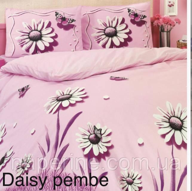 Постельное бельё евро Altinbasak Daisy pembe