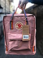 Розовыйвместительный городской рюкзак Kanken Канкен