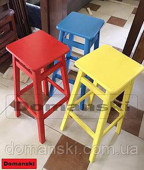 Барные стулья. Барный   табурет окрашенный 60 см высота., фото 2