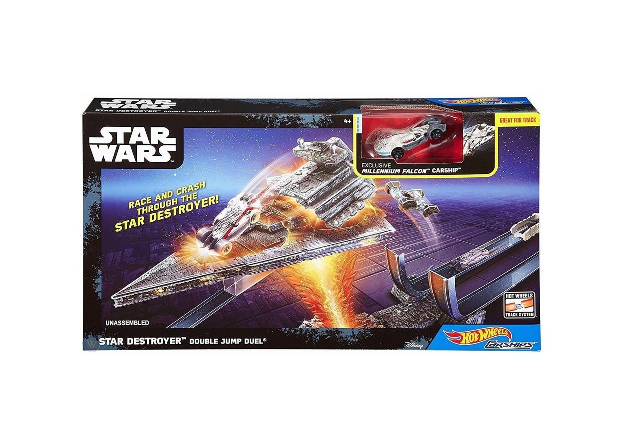 Оригинальный Трек Атака имперского крейсера Hot Wheels Star Wars Carships Double Jump (DPV38)