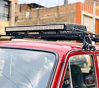 Балка 106см 400W универсальные светодиодные фары оптика Нива светодиодная LED балка люстра дополнительный свет