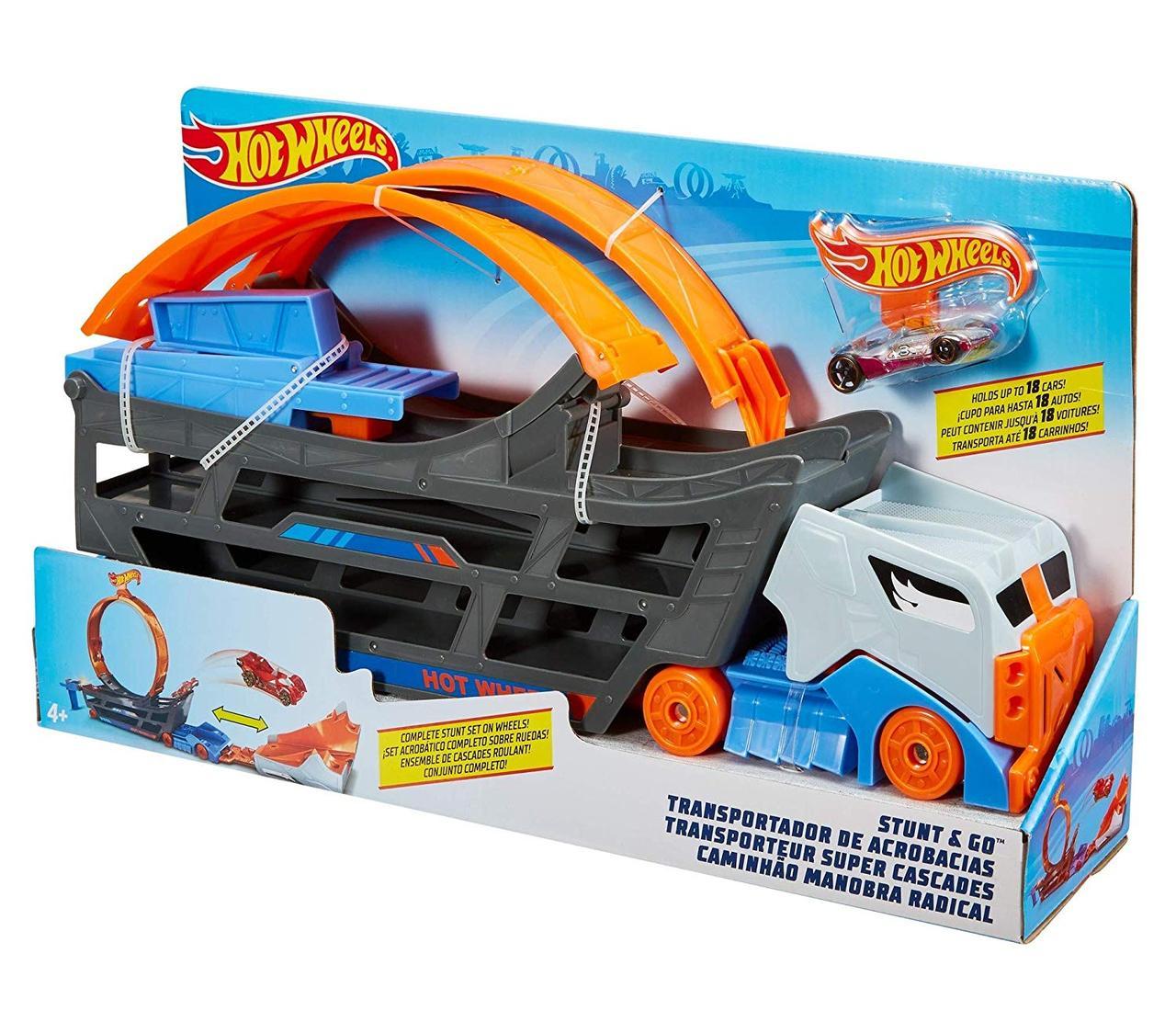 Хот Вилс Оригинал Автовоз с петлей  Hot Wheels Stunt & Go Track Set (GCK38)