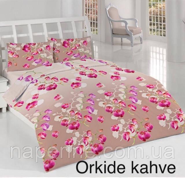 Постельное бельё евро Altinbasak Orkid kahve