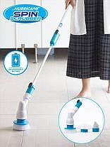 Электрическая вращающаяся щетка с насадками для уборки по дому Spin Scrubber (Реплика), фото 3