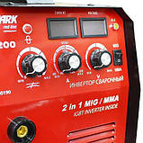 Сварочный инвертор полуавтомат Stark IMT 200 MIG, фото 3