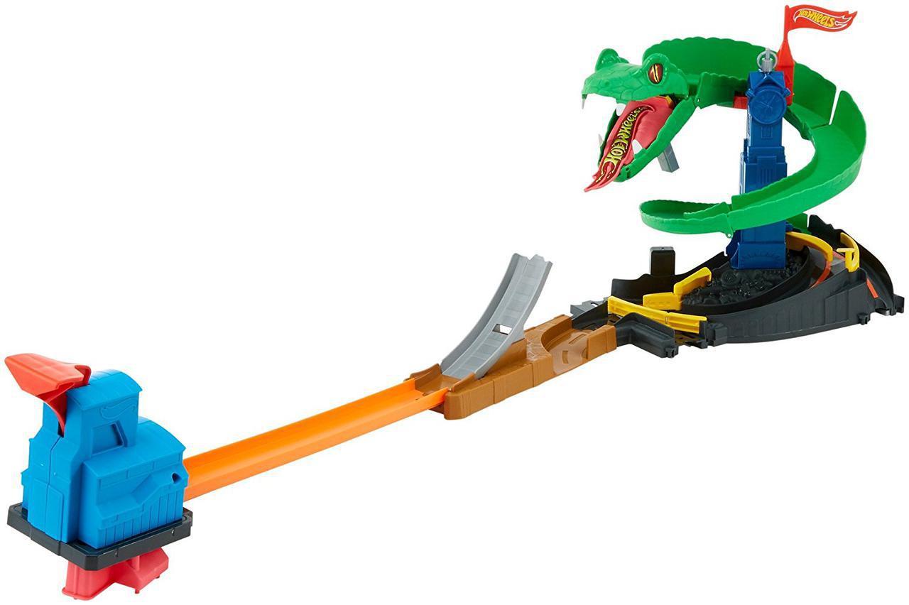 Трек Хот Вилс Сити Атака Кобры Оригинал Hot Wheels City Cobra Crush Playset (FNB20)