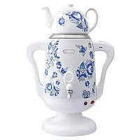 Самовар электрический Lexical с керамическим чайником, Мощность 1800 Ватт Белый, фото 1