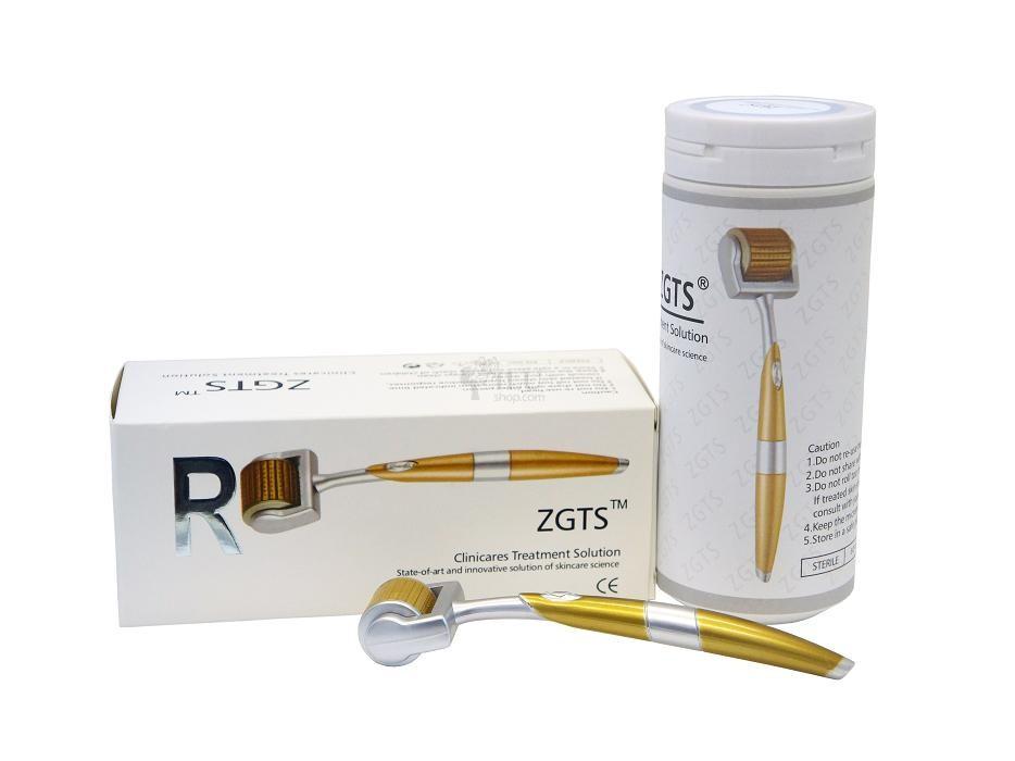 Мезороллер ZGTS Gold титан с позолотой 1.0мм - Интернет-магазин Миноксидил Украина Minoxidil.pp.ua в Запорожье