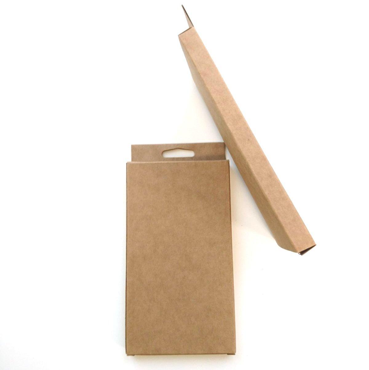 Коробка, упаковка 90х160х12 мм с европодвесом из крафт картона 275 гр/кв.м
