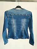 Пиджак женский джинсовый, фото 2