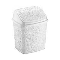 Контейнер для мусора Ажур Elif 384-1 белый #O/Z