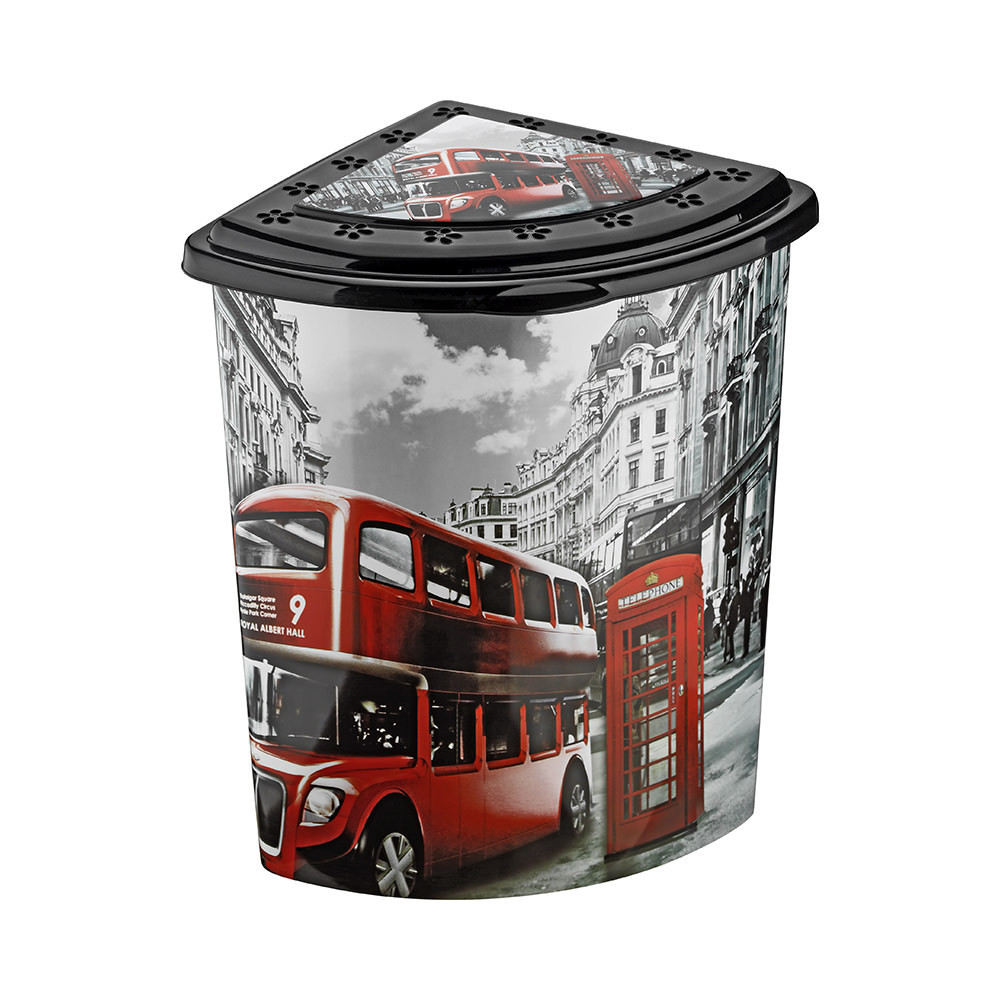 Угловая корзина для белья Лондон Elif Plastik 338-9 #O/Z