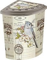Угловая корзина для белья Elif Попугаи 338-18 #O/Z