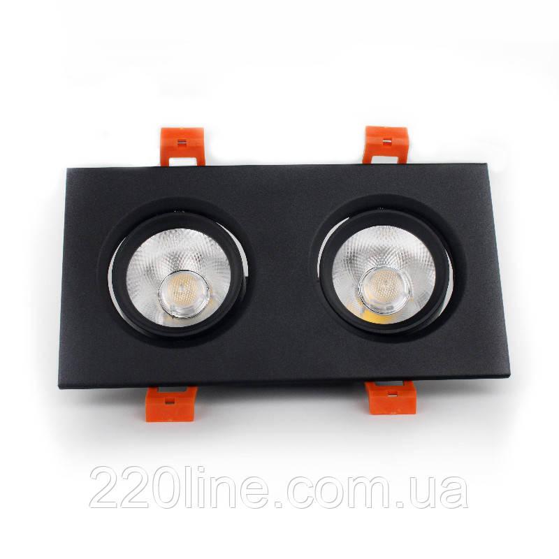 ElectroHouse LED светильник потолочный чёрный двойной 5W угол поворота 45° 4100К