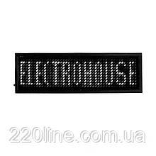 ElectroHouse Електронний Led бейдж, білий