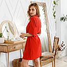 Комплект женский халат + пеньюар красного цвета, фото 6