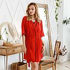 Комплект женский халат + пеньюар красного цвета, фото 5