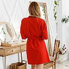 Комплект женский халат + пеньюар красного цвета, фото 7