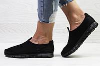 Подростковые \ женские кроссовки (в стиле) летние Nike Free Run 3.0 сетка,черные