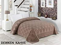 Махровая простынь хлопок 150*220 (TM Zeron) 450г/м2 Dewken Kahve, Турция, фото 1