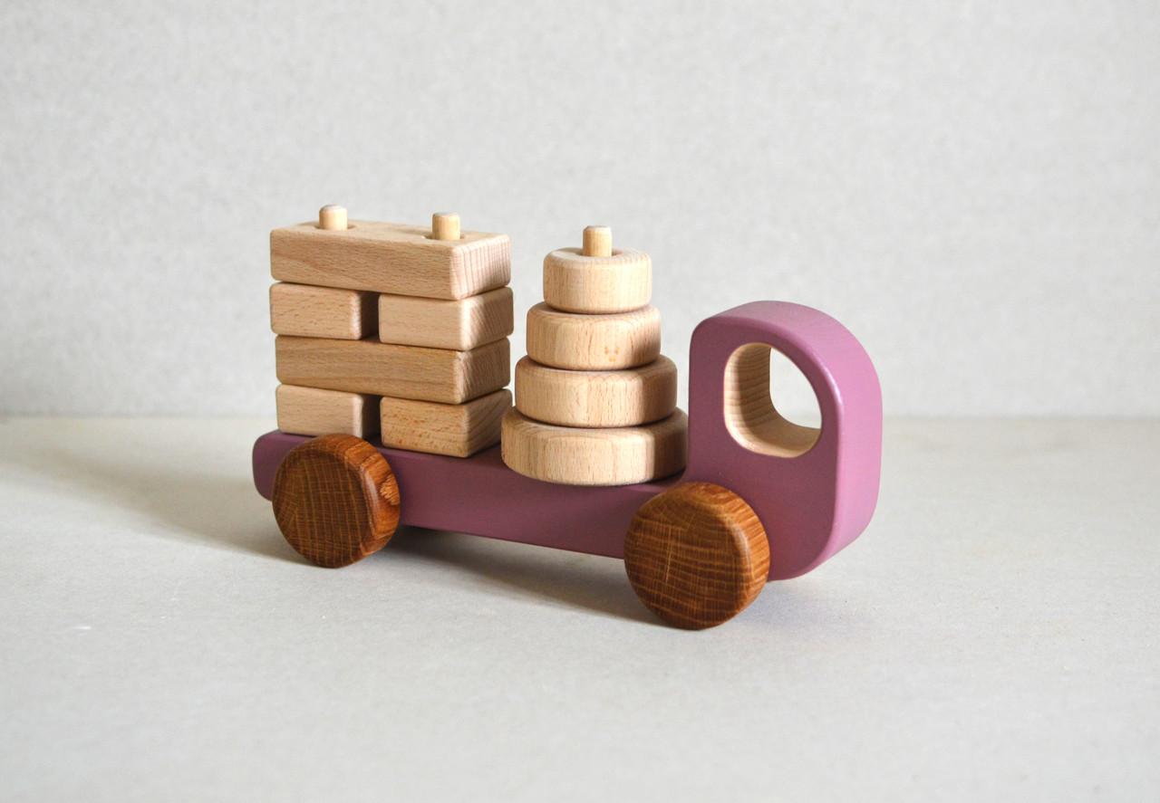 Механическая деревянный SUNROZ грузовик Фиолетовый(7130)