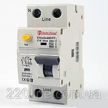 ElectroHouse ДИФЕРЕН Автомат 40А 1P+N 30mA 4,5 kA 230-240V IP20