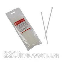 Стяжка кабельна Білий 3х200 мм  100шт./п.