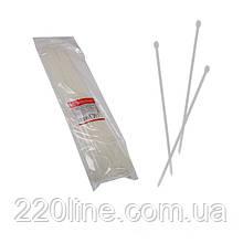 Стяжка кабельна Білий 5х450 мм  100шт./п.