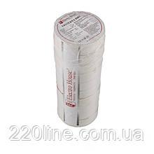 ElectroHouse Ізолента біла 0,15 мм х 18мм х 11м