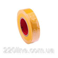 ElectroHouse Ізолента жовта 0,15 мм х 18мм х 11м