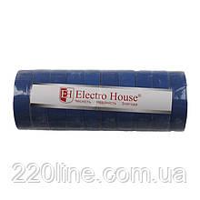 ElectroHouse ізоляційна стрічка синя 0,15 мм х 18мм х 17м