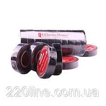 ElectroHouse Ізолента чорна 0,15 мм х 18мм х 17м
