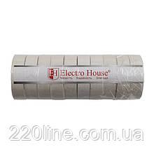 ElectroHouse Ізолента біла 0,15 мм х 18мм х 17м