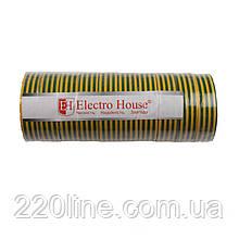 ElectroHouse ізоляційна стрічка жовто-зелена 0,15 мм х 18мм х 17м