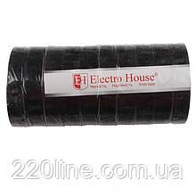 ElectroHouse Ізолента чорна 0,15 мм х 18мм х 21м