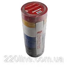 ElectroHouse Ізолента асорті 0,15 мм х 18мм х 21м