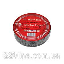 ElectroHouse Ізолента чорна 0,15 мм х 18мм х 25м