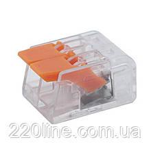 ElectroHouse Конектор на 2 контакту (400В, 32А, прозорий)