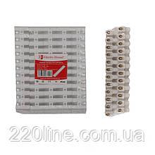 ElectroHouse Клемна колодка поліпропілен 15A-12mm2