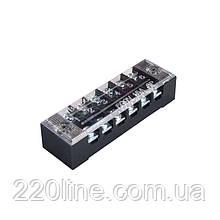 ElectroHouse Клемна колодка в корпусі 6 клемних пар, 15А, IP20, гвинтовий