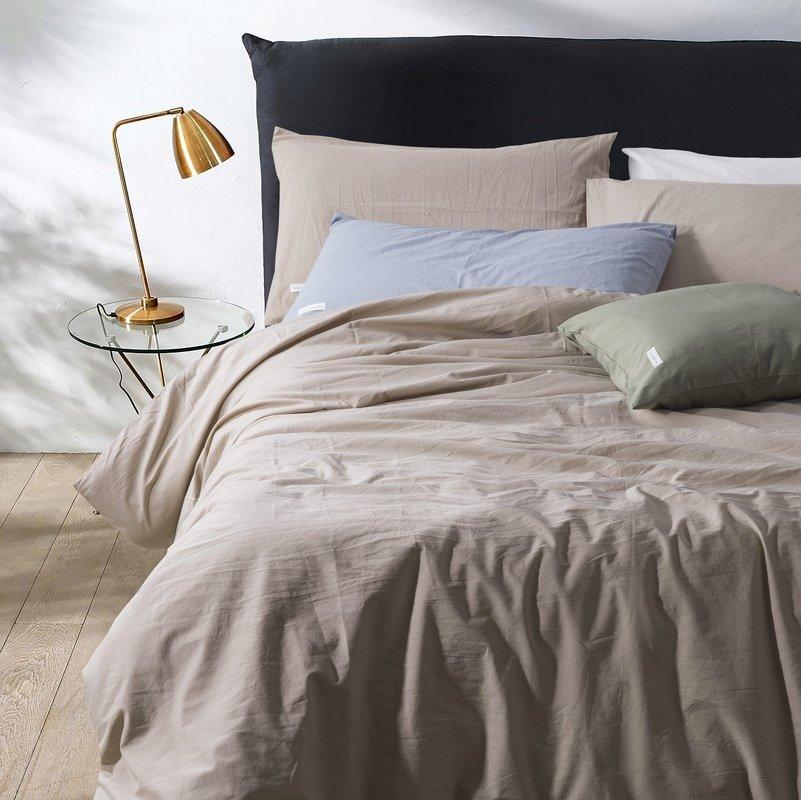Комплект постельного белья Bella Villa WASHED COTTON 200 x 220 W-0001 Eu/light coffee