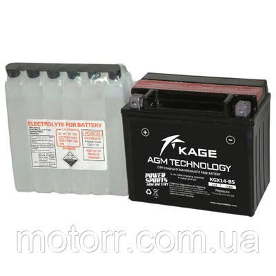 Аккумулятор KAGE YTX14-BS