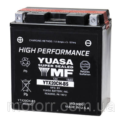 Акумулятор YUASA YTX20CH-BS