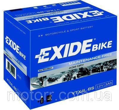Аккумулятор Exide YTX4L-BS