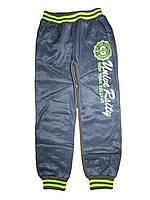 Спортивные комбинированные брюки для мальчиков с начесом, Sun Sea, размер 98 ,арт. 1206