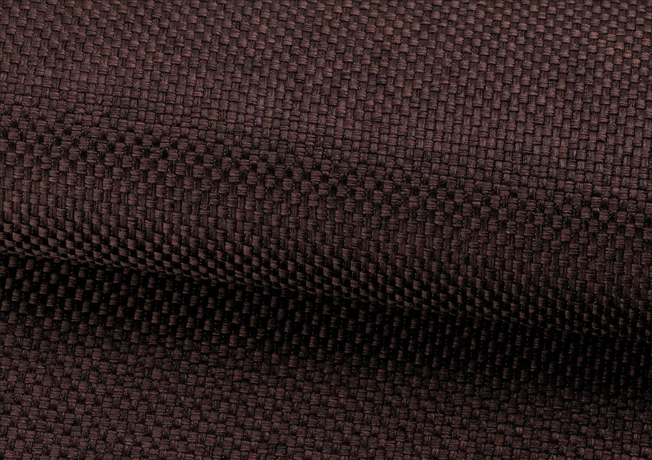 Тканина для штор Рогожка шоколадна сонцезахисна, затемнююча, Туреччина