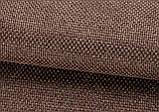 Тканина для штор Рогожка шоколадна сонцезахисна, затемнююча, Туреччина, фото 4