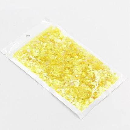 Блестки «Микс» желтые для слаймов (50506), фото 2